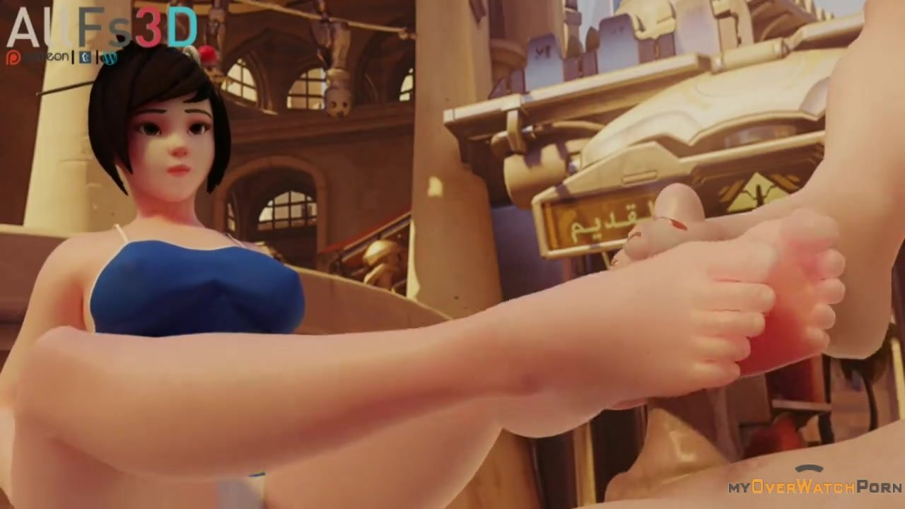 Mei and Brigitte footjob