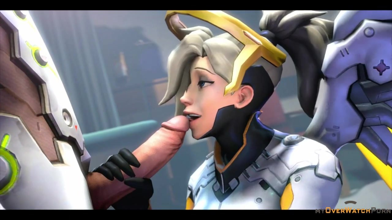 Mercy sucking Genji dick