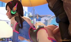 Overwatch Dva Doggystyle action