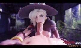 Witch Mercy blowjob