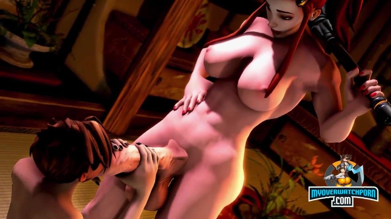 Brigitte fucks Tracer with love in this awesome OverWatch FUTA Video
