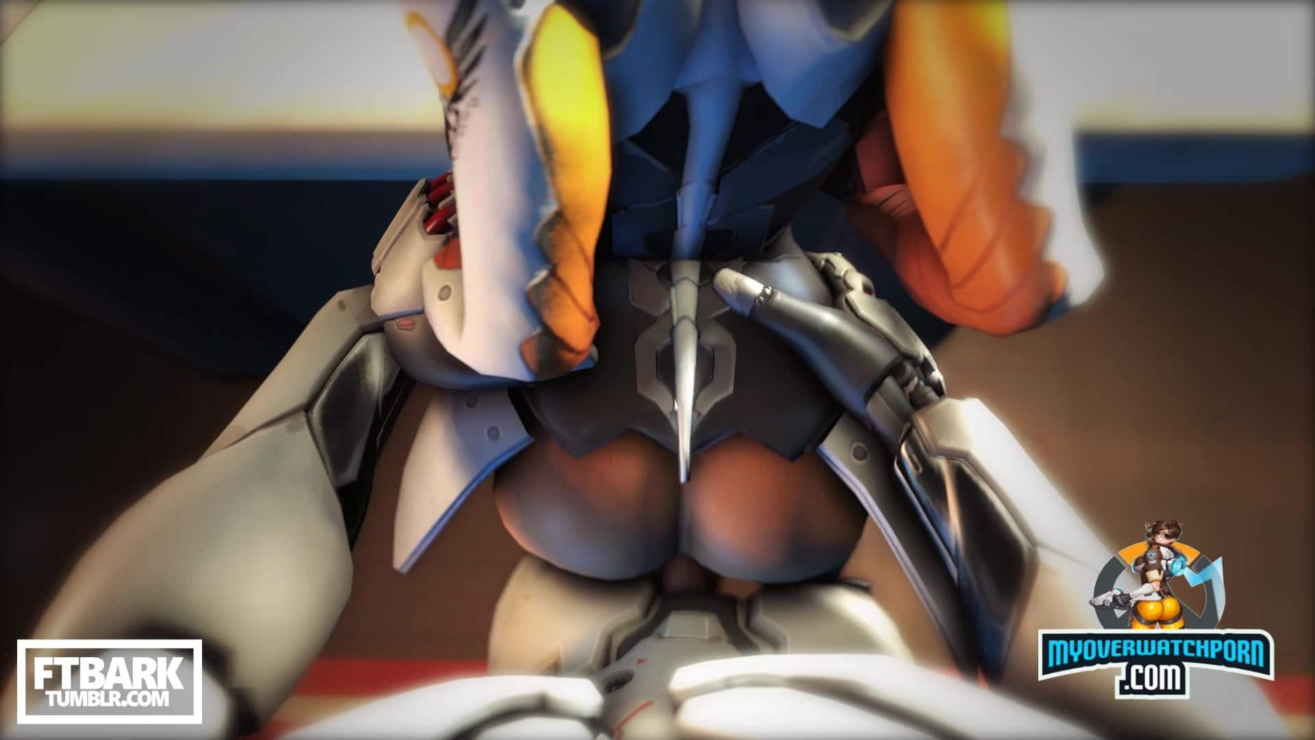 Mercy fucked from behind by Reinhardt