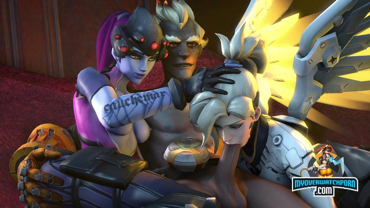 Widowmakers makes Mercy suck Junkrat's dick